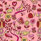 In My Garden - On Pink by SpiceTree