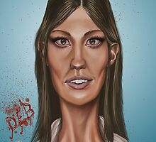 """Deb"" - Jennifer Carpenter's Caricature  by lerectifieur"