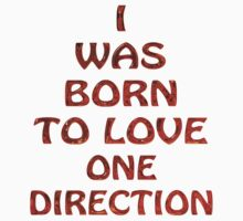 I Was Born to Love One Direction T-Shirt by kmercury