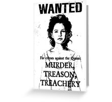 Wanted - Snow White Greeting Card
