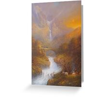 The road to Rivendell Greeting Card