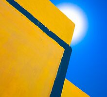 abstract yellow and blue by meirionmatthias