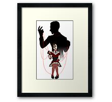Puppet and Master Framed Print