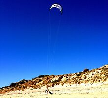 Water parachuting at Brighton Beach, South Australia. by Vanessa  Stephens