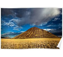 Chocolate Mountain with Rainbow Poster