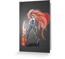 Rainbow Punk: Flame Funk Greeting Card