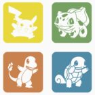 Pikachu Bulbasaur Charmander Squirtle by Royal Bros Art