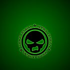 Sookie Designs Sneer Skull Logo Green by Sookiesooker