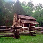 Wooden Cabin - Cades Cove, Tennessee by Glenn Cecero
