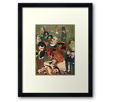 Flute Player in the Mezze Lounge. Framed Print