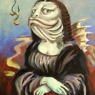 Mona Lisa (as a fish) by Ellen Marcus