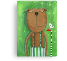 Mr. Bear love Music Canvas Print