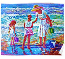 Sunday  Morning at the Beach Poster