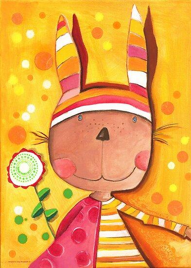 Baby Bunny by Malerin Sonja Mengkowski