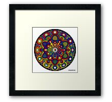 Mandala 42 Rainbow Prints, Cards & Posters Framed Print