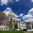 Pennsylvania State Capitol on Beautiful Spring Day by Mark Van Scyoc