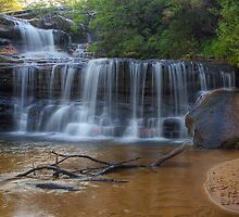 Waterfalls of the Jamison Valley, NSW by Jennifer Bailey