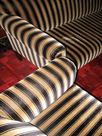 Zebra art nouveau couch by dominiquelandau