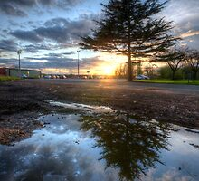 Sunset & Puddle Reflections 2.0 by Yhun Suarez