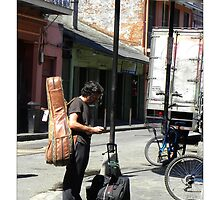"""Musical Aspirations""/ French Quarter Street Preformers  by Sandra Russell"