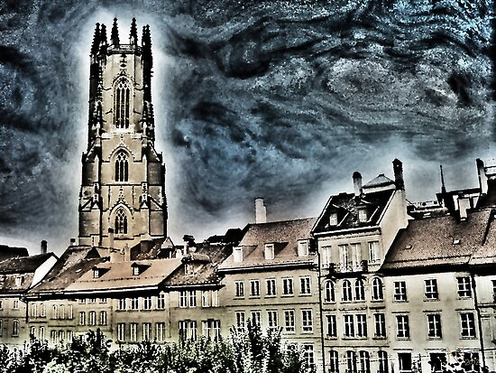 St-Nicolas cathedral in Fribourg (Switzerland) by jntvisual