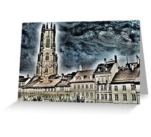 St-Nicolas cathedral in Fribourg (Switzerland) Greeting Card