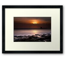 Saltwick Bay in the morning Framed Print