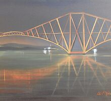 """""""The Rail Bridge"""" (Image of an Oil Painting) by LBMcNicoll"""