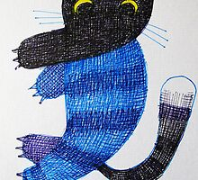 strange cat by donnamalone