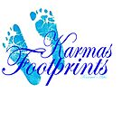 KARMAS FOOTPRINTS (BLUE) by Karma  Arts UK