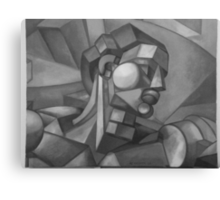 first cubist man oil painting   Canvas Print