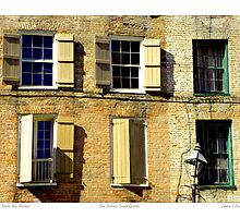 """Old Brick New Shutters"" New Orleans French Quarter by Sandra Russell"