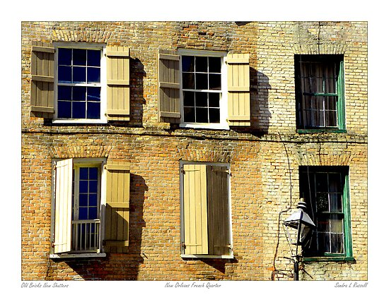 Old Brick New Shutters New Orleans French Quarter By Sandra Russell Redbubble