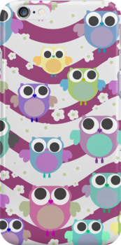 colorful owls by offpeaktraveler