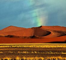 Rainbow over the Dunes by Jill Fisher