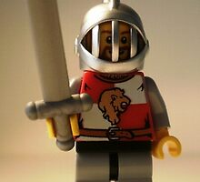 LEGO® Kingdoms - Lion Knight Quarters, Helmet with Fixed Grille, Brown Beard, by 'Customize My Minifig' by Chillee
