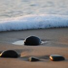 Pebbles Washed by the Ocean - Apollo Bay, Victoria by Heather Samsa