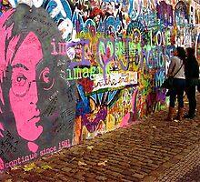 John Lennon Graffiti Wall, Prague, Czech Republic by ChrisCiolli