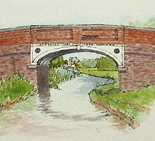Canal Bridge, Pelsall by Lynne  M Kirby BA(Hons)