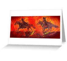 Black Riders Tolkien inspired art Greeting Card