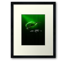 One Leaf Could Cover The World Framed Print