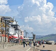 A Typical Day In Lyme Regis, Dorset by lynn carter