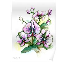"""""""power of flowers"""" orchids Poster"""