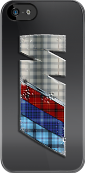 ///M Tartan MG iPhone case by Benjamin Whealing