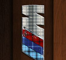 ///M Tartan Wood Grain iPhone case by Benjamin Whealing