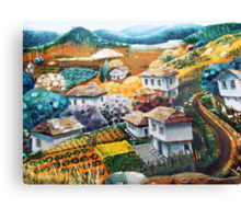 Village in mountains Canvas Print