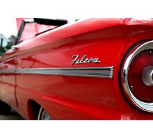 1963 Ford Falcon Name Plate Photographic Print