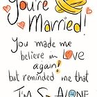 Awkward wedding card.  by twisteddoodles