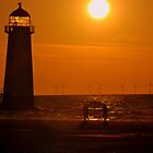 Sunset Shoreline at Talacre North Wales by Stan Owen