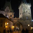 On the Charles Bridge at Night by SerenaB